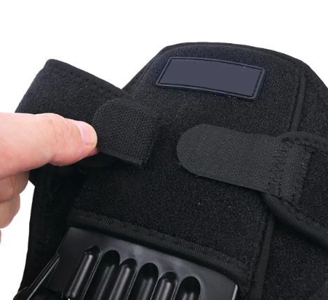 a Power knee Joint Support brace, sewing detail and velcro