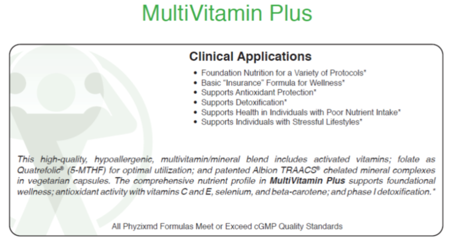 Phyzix MD™ MultiVitamin Plus Daily Supplement directions for use