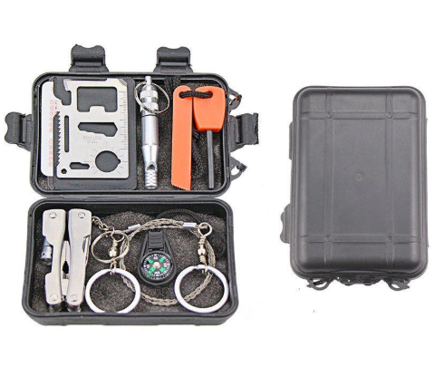 Survive+All™ Emergency Preparedness Survival Kit Outdoor Tactical SOS Tools