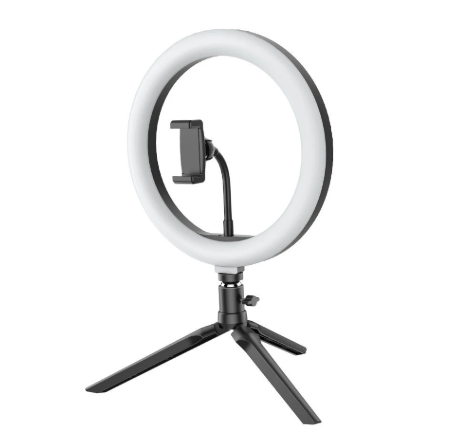 StudioIQ™ Ring Light Tripod Stand with Phone Clip