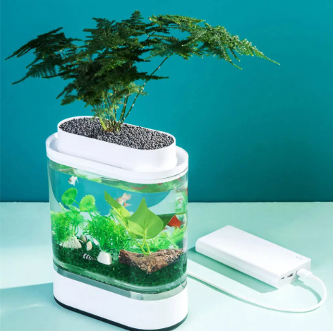 FishHaus™ Mini Fish Tank Self-cleaning Aquarium
