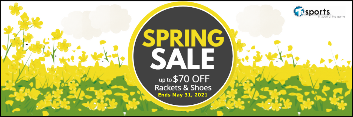 T1 SPORTS Badminton & Tennis Spring Sale