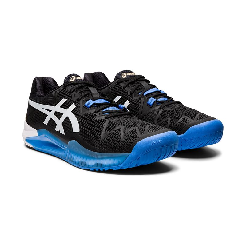 Asics Gel Resolution 8 (Black/White)