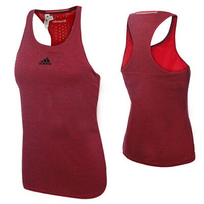 Adidas Ladies Uncontrol Climachill Red Tank Top