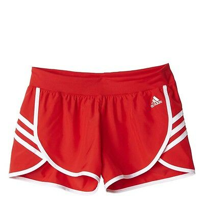 Adidas Ladies Ultra Woven Red Shorts