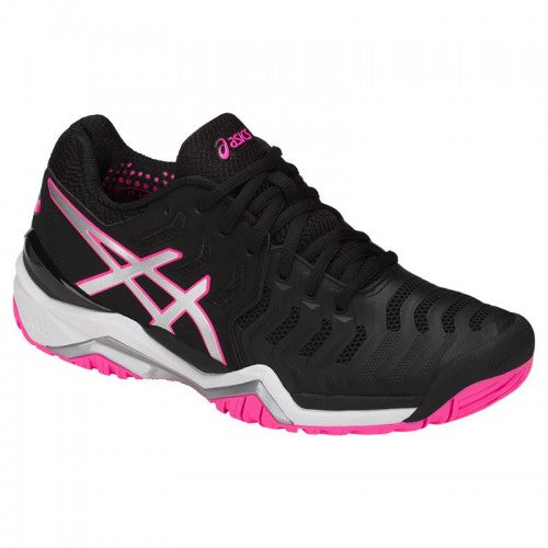 Asics Gel Resolution 7 (Black/Silver/Hot Pink)