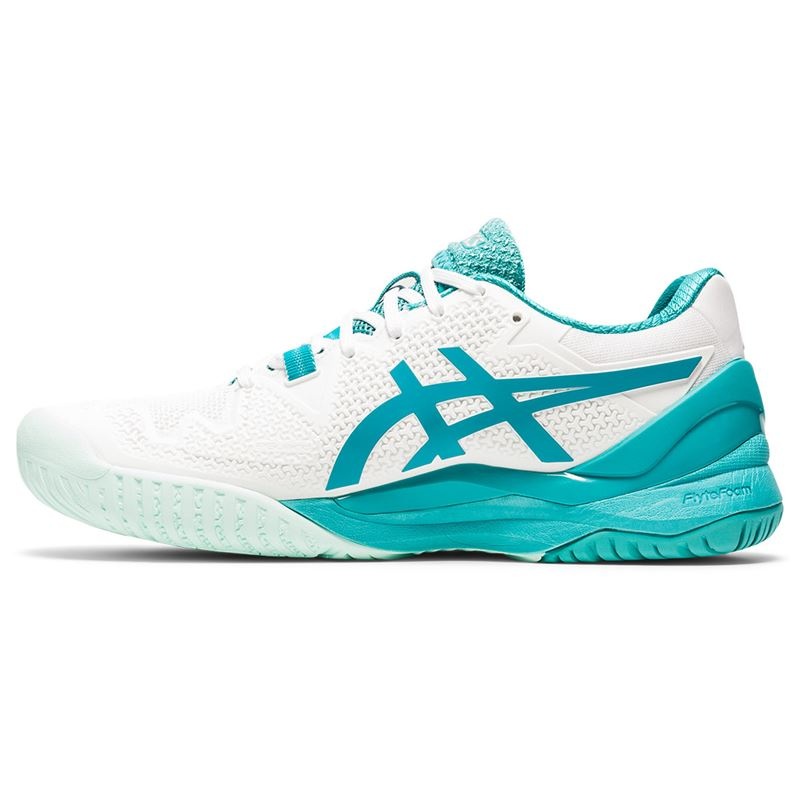 Asics Gel Resolution 8  (White/Lagoon)