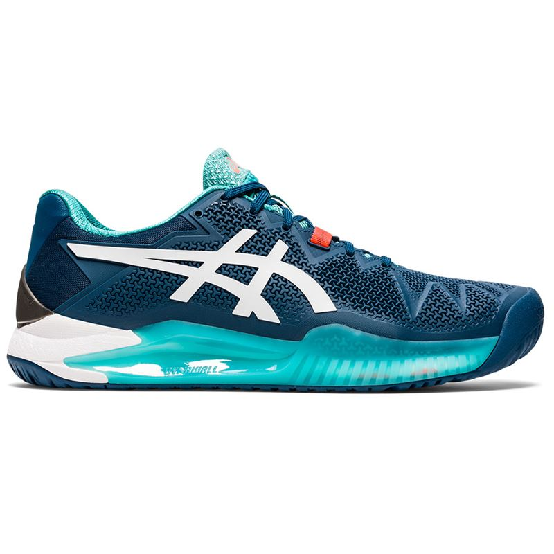 Asics Gel Resolution 8 (Mako Blue/White)