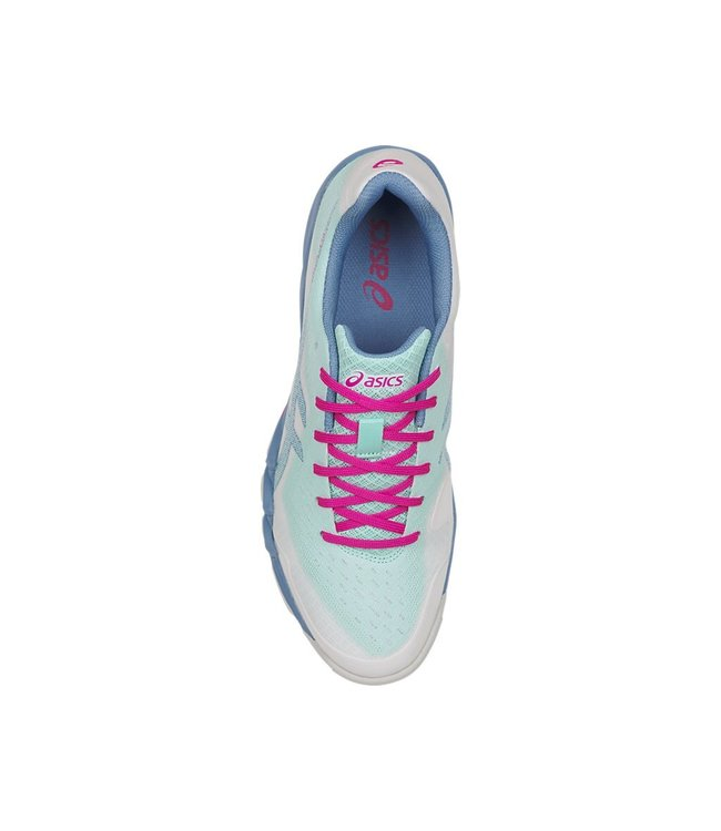 Asics [Gel Blade 6 Ice Blue/Pink] Court Shoes