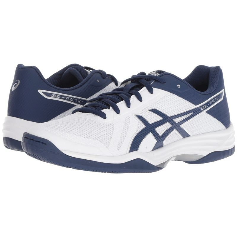 Asics [Gel Tactic 2 White/Navy] Court Shoes
