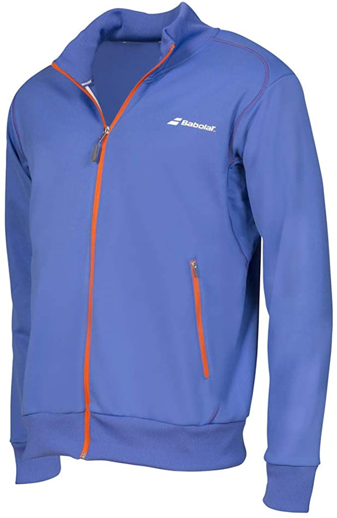 Babolat Performance Long Sleeve Full Zip Blue Shirt
