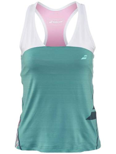 Babolat Ladies Racerback Performance Mineral Blue Tank Top