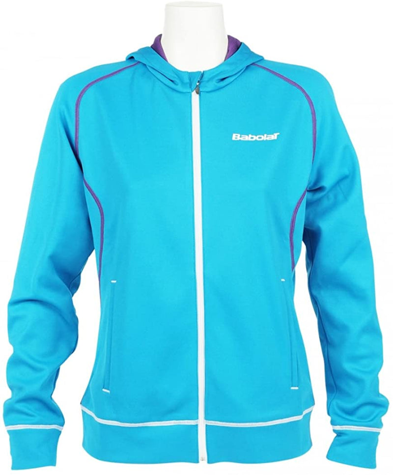 Babolat Ladies Performance Match Long Sleeve Turquoise Hoodie