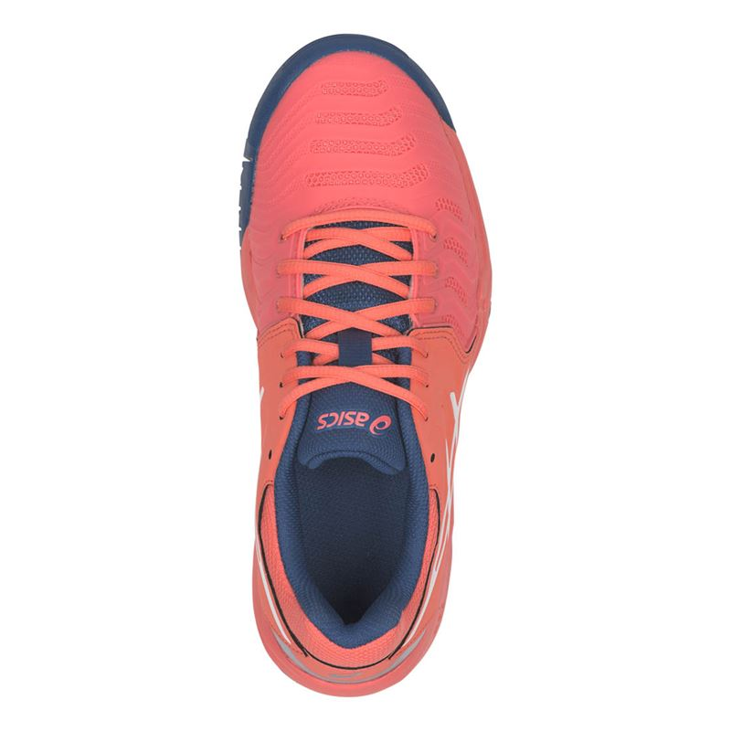 Asics Gel Resolution 7 GS (Papaya/White) Junior