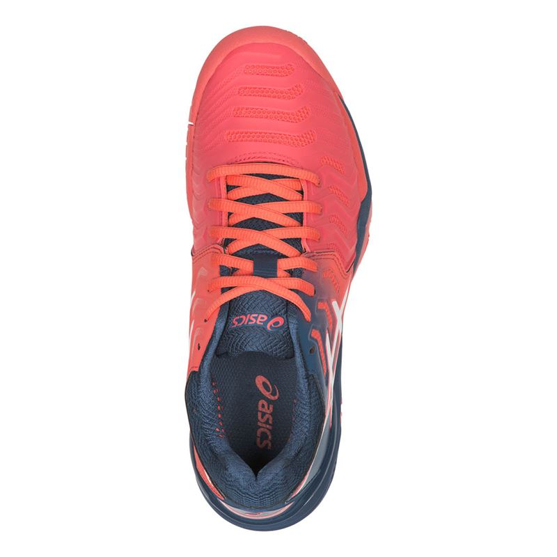 Asics Gel Resolution 7 (Papaya/White)