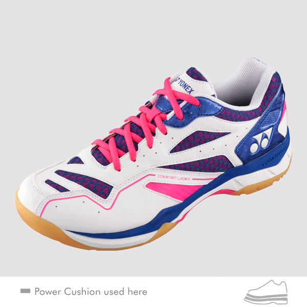 YONEX Power Cushion [Comfort White/Navy/Pink] Court Shoes