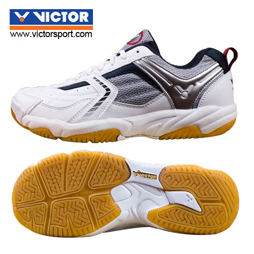 Victor [SH 501 C White/Black] Court Shoes