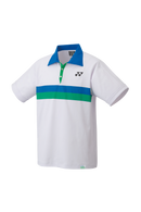 [Yonex 10390AEX White] 75th Anniversary Edition Men's Polo Shirt