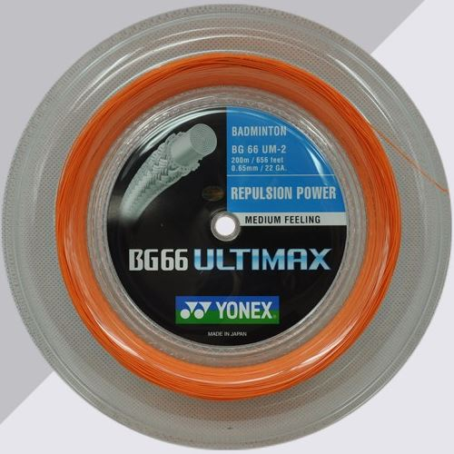 Yonex BG66 Ultimax Badminton String Reel (200m) - Orange