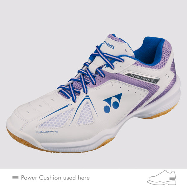 YONEX Power Cushion [SHB-35L White/Purple] Court Shoes