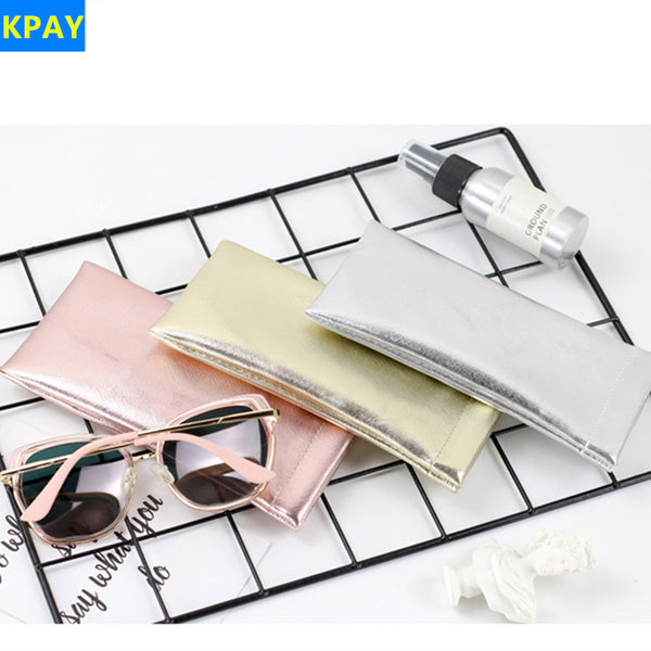 2019 PU Leather Foldable Glasses Box Fashion Women Portable Glasses Case for Eyeglass Oversize Sunglasses Bag Holder Accessories