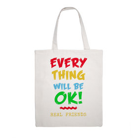 Everything Will Be OK  Canvas Tote Bag -  Eco Friendly 15