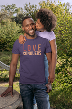 Load image into Gallery viewer, Love Conquers Unisex Short Sleeve Tee