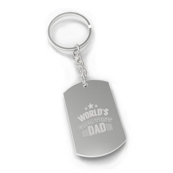 World's Greatest Dad Nickel Key Chain Unique Gifts