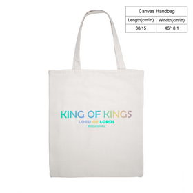 King of Kings Canvas Tote Bag -  Eco Friendly 15