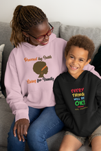 Load image into Gallery viewer, Powered by Faith Living for Family Unisex Hoodie