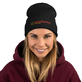 Excitemz Shop Happy Embroidered Beanie