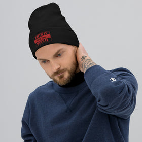 Faith It Till You Make It Embroidered Beanie