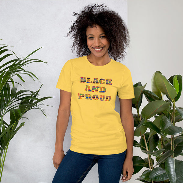 Black and Proud Short-Sleeve Unisex T-Shirt