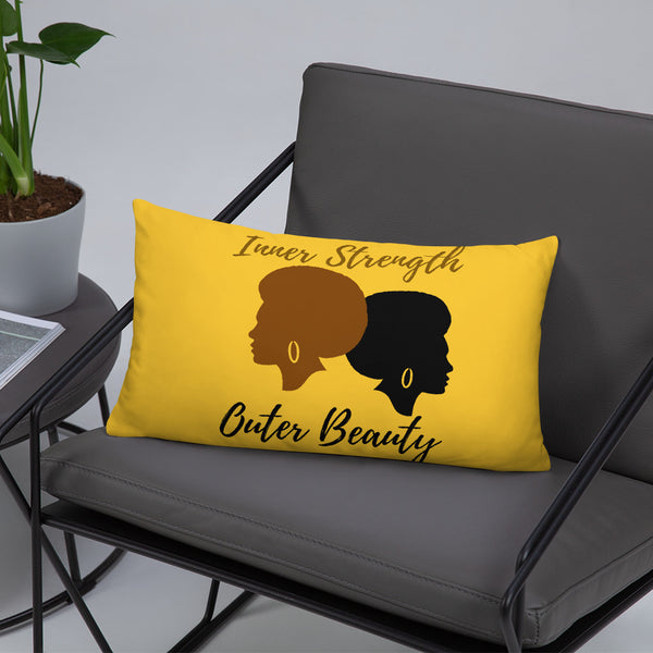 Inner Strength Outer Beauty Throw Pillow