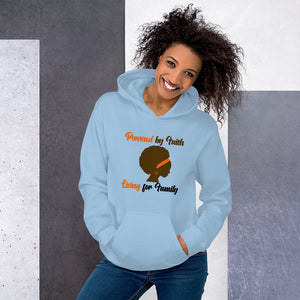 Powered by Faith Living for Family Unisex Hoodie