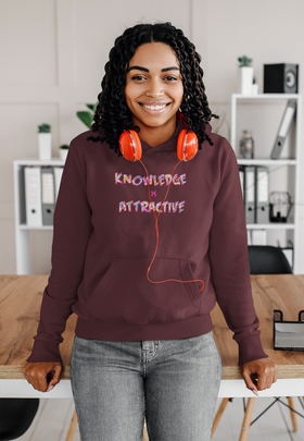 Knowledge is Attractive Woman's Unisex Hoodie