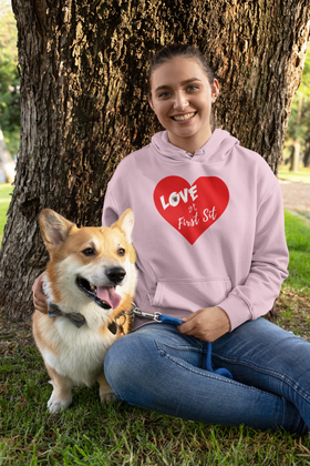 Love at First Sit - Pug version Unisex Hoodie