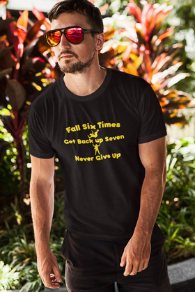 Fall 6 Times Get Back Up 7 Short Sleeve Tee