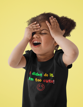 I Didn't Do It Toddler Short Sleeve Tee
