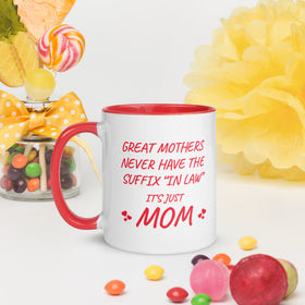 Mother's Day Gift for Mother in Law Mug with Color Inside