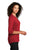 LK750 Port Authority  Ladies UV Choice Pique Henley - Red