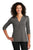 LK750 Port Authority  Ladies UV Choice Pique Henley - Sterling Grey
