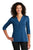 LK750 Port Authority  Ladies UV Choice Pique Henley - True Blue