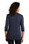 LK750 Port Authority  Ladies UV Choice Pique Henley - Navy