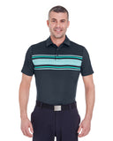 1253479 Under Armour Men's Playoff Space Dyed Polo - STEALTH gRAY