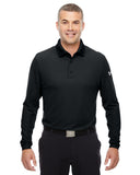 1283708 Under Armour Men's Performance Long Sleeve Polo - BLACK