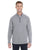 1289407 Under Armour Men's Tech Stripe Quarter Zip - GRAPHITE