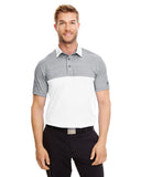 1300133 Under Armour Men's UA Playoff Block Polo - STEEL/WHITE
