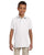 437Y Jerzees Youth 5.6 oz., SpotShield Polo - WHITE