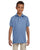 437Y Jerzees Youth 5.6 oz., SpotShield Polo - LIGHT BLUE